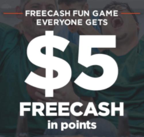$5 FREECASH Points