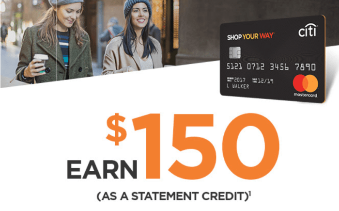 Citi Sears Mastercard 150