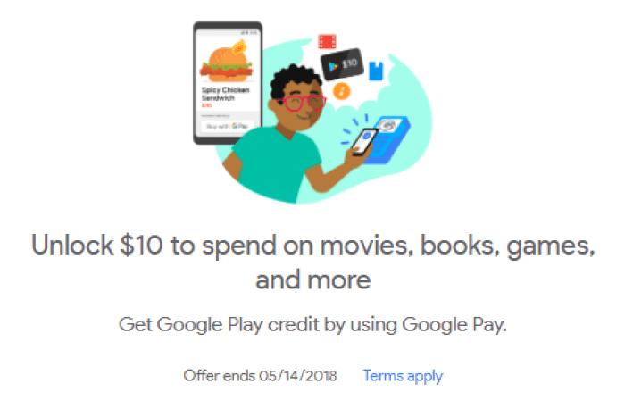 Google Pay promotion