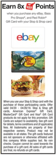 stop and shop ebay promo