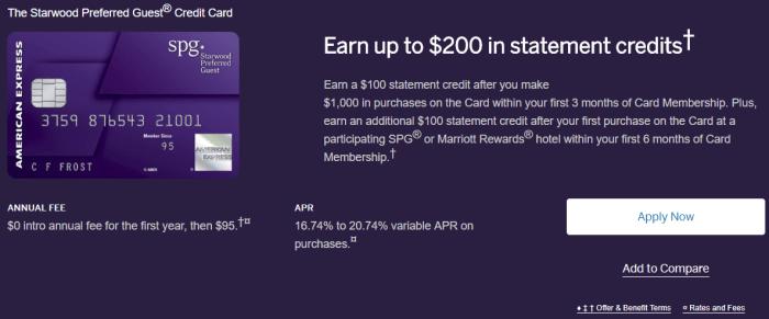 New Amex SPG Bonuses