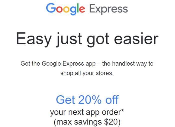 Google Express App offer