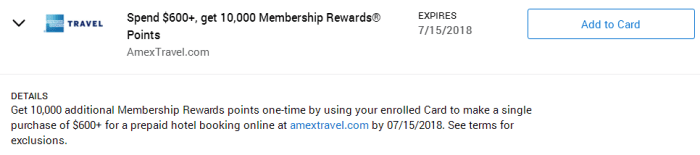 AmexTravel Amex Offer