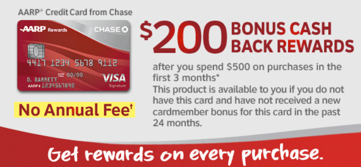 Chase Aarp Card 200 Bonus Plus 3 On Gas And Restaurants