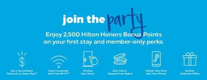 hilton honors signup bonus