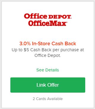 ebates in-store cashback office depot