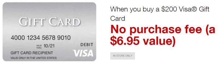 Staples No-Fee Visa Gift Card Deal
