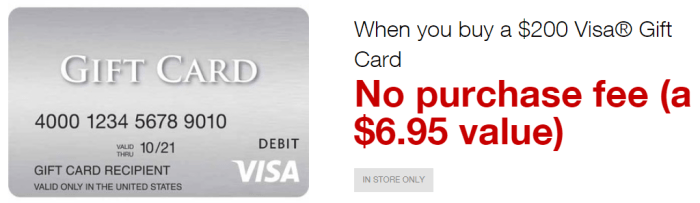 Staples No-Fee Visa Gift Card Deal