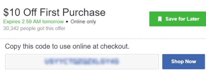 10 ebay code