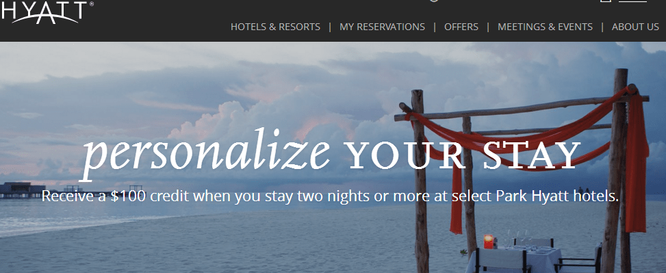Get $100 Credit at Select Park Hyatt Hotels
