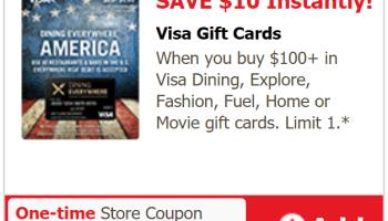 safewayvonsshaws etc instant 10 discount on 100 - Buy Visa Gift Card Online Instant