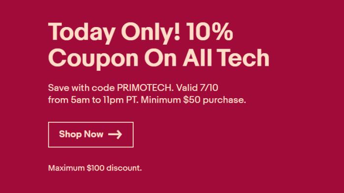 ebay tech 10 off