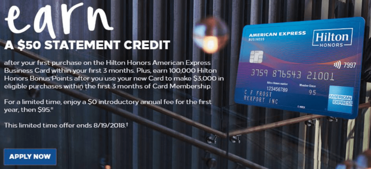 Hilton honors american express business card 100k points bonus 50 amex hilton business 100k colourmoves