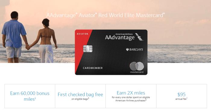 Barclays AAdvantage 60k bonus