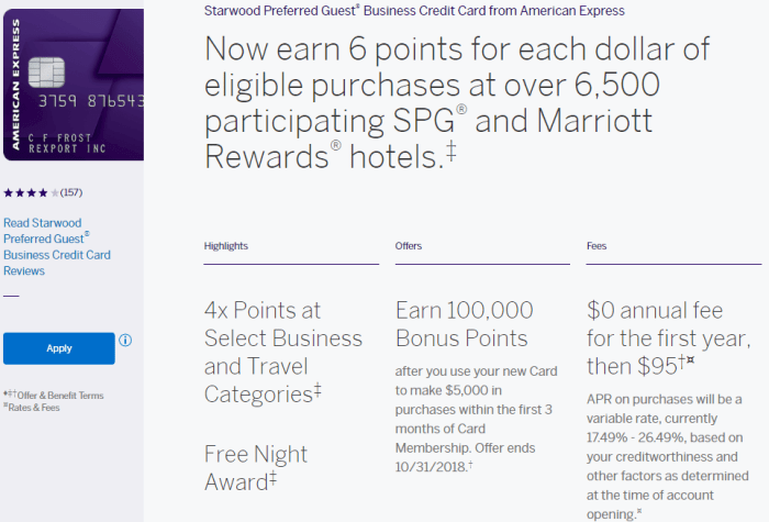 Amex SPG Business Credit Card Review