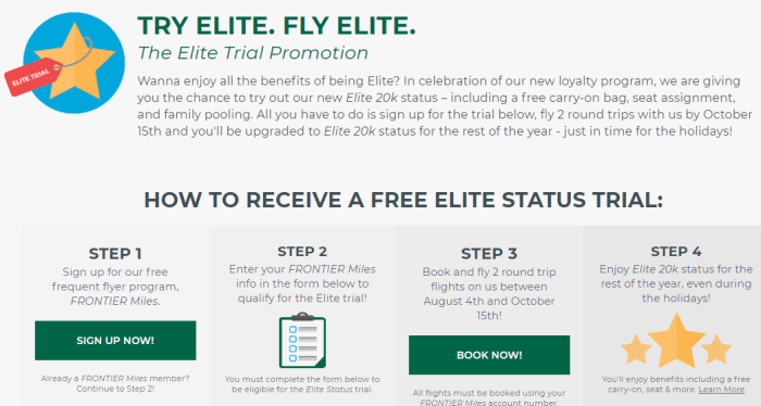 Frontier Elite 20K Promo