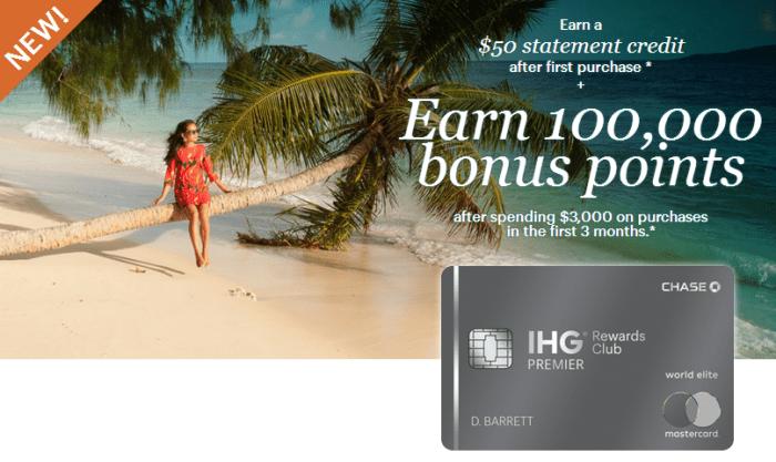 Chase IHG Premier 100K Bonus