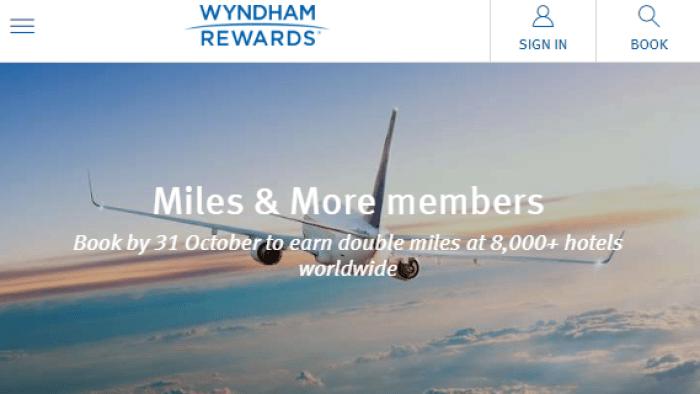 wyndham Lufthansa miles promo