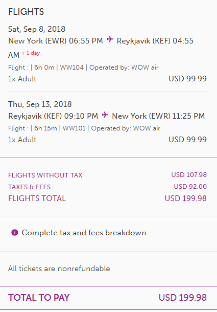 cheap fares from nyc to iceland