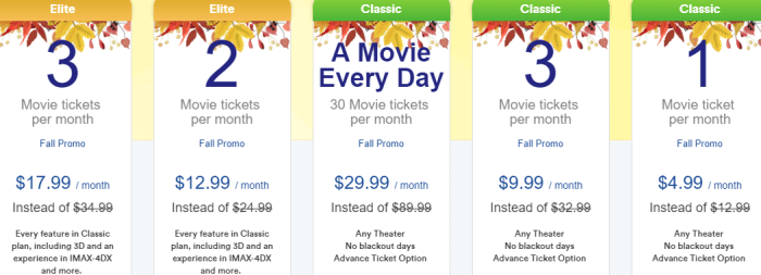 sinemia unlimited monthly plan
