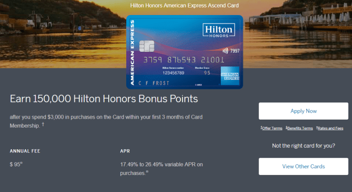 150K Amex Hilton Ascend Offer Available Through Referrals