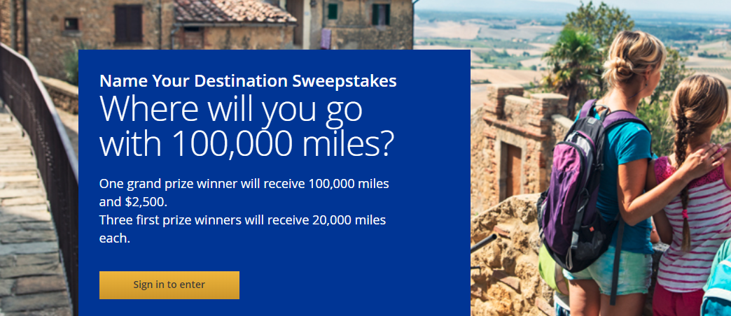 Enter to Win 100,000 United Airlines Miles and $2,500