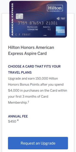 Amex Hilton Aspire Upgrade Offer