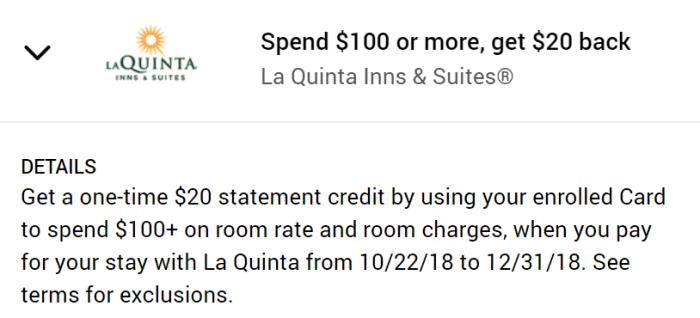 La Quinta Amex Offer
