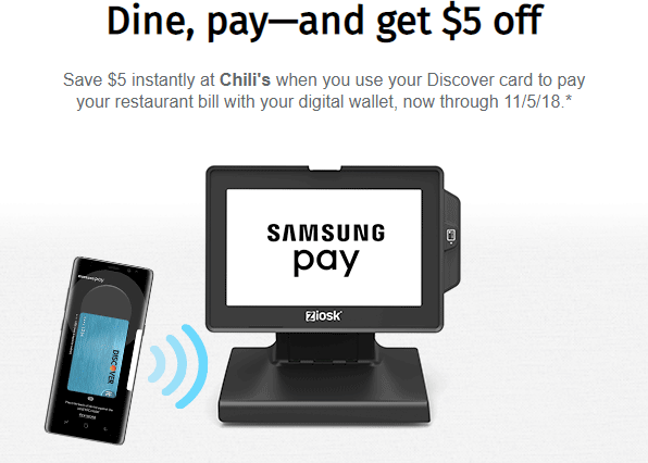 Save $5 With Discover Cards at Chili's, Olive Garden, Applebee's and More