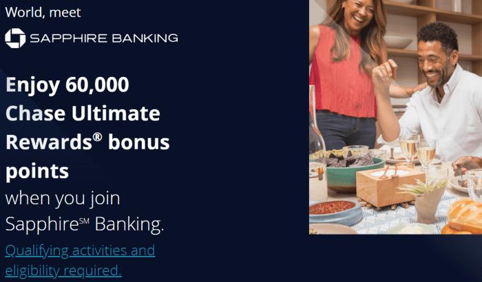 Chase Sapphire Banking bonus