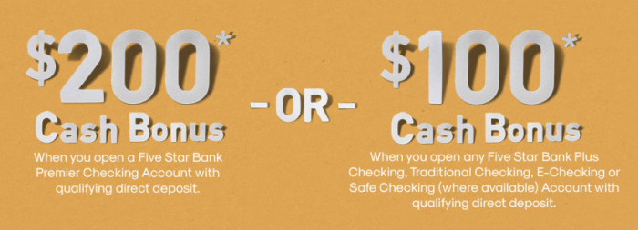 Five Star Bank bonus