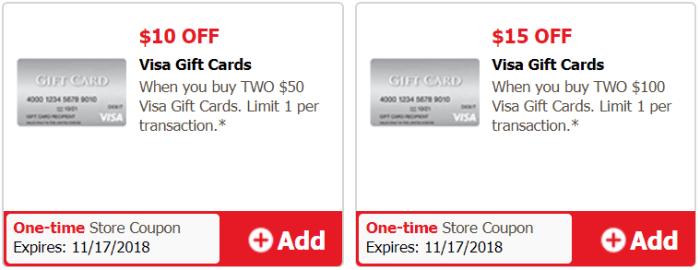 visa gift card discount