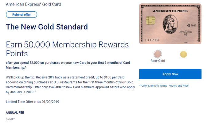 amex gold card 50k bonus