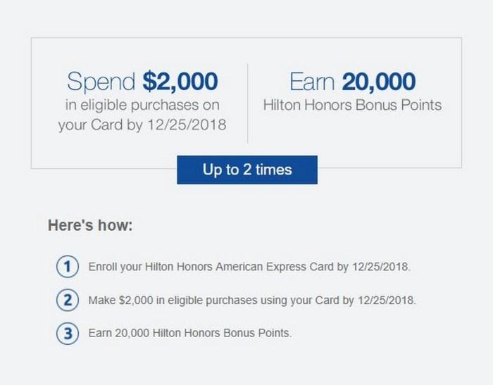 Amex Hilton Cards 40k spending bonus