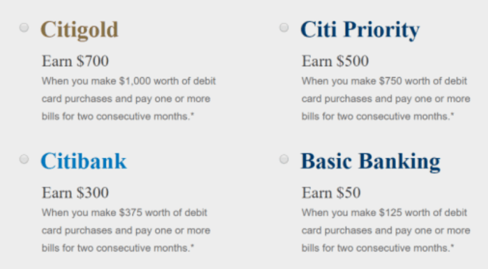 citi checking 700 bonus