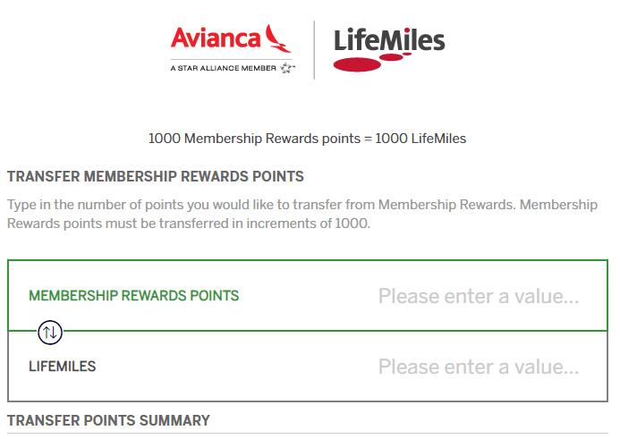 Amex Membership Rewards Adds Avianca Lifemiles