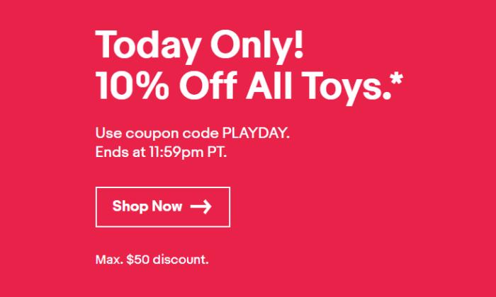 ebay 10 off toys