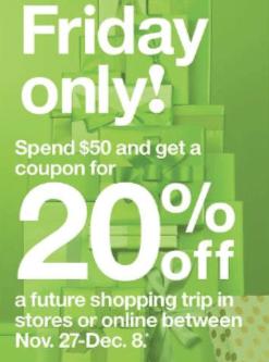 target 20 off coupon
