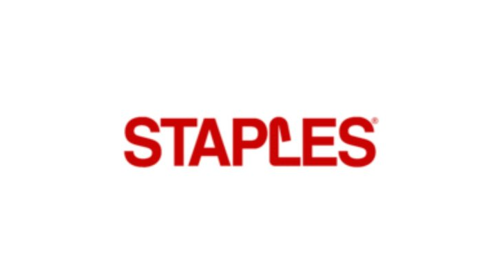 Staples $10 Off $30 Electronics