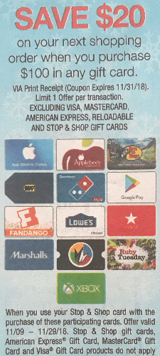 stop shop gift card deal