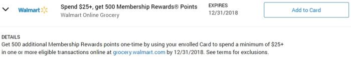 Walmart Grocery Amex Offer