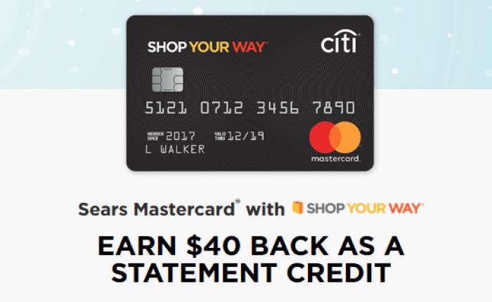 citi sears mastercard bonus