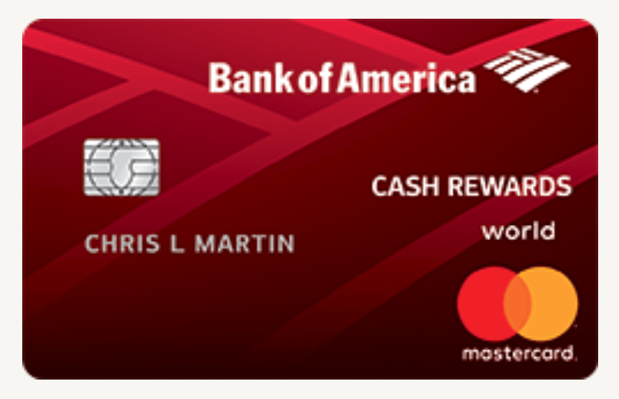 Choose Your Bank of America Cash Rewards Card 14% Categories