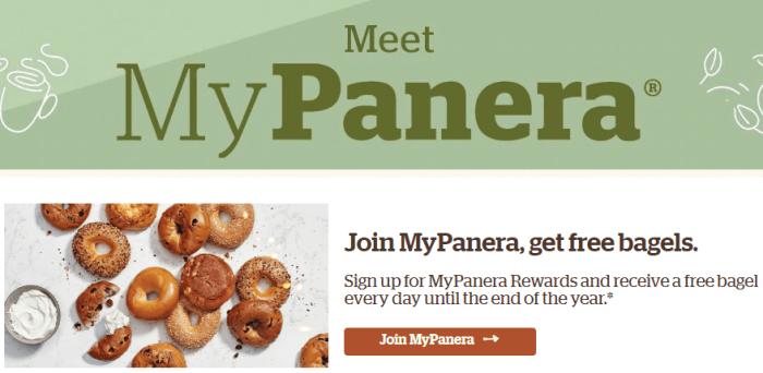 panera free bagel
