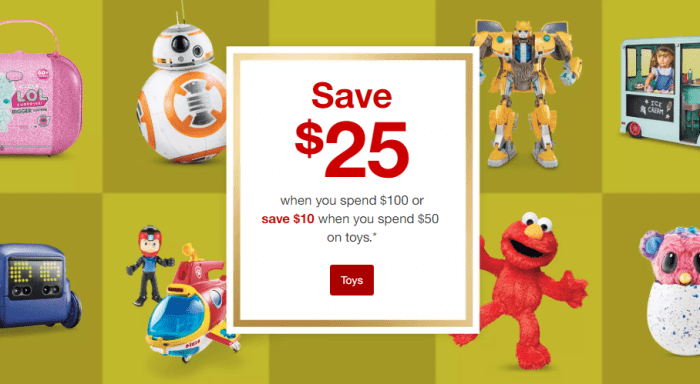 Target Toy Sale