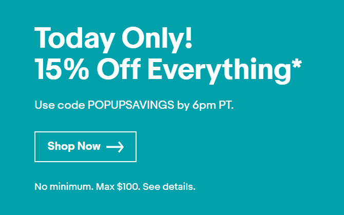 ebay 15% off sale
