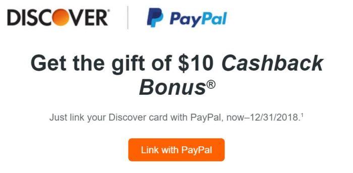 discover paypal 10 bonus