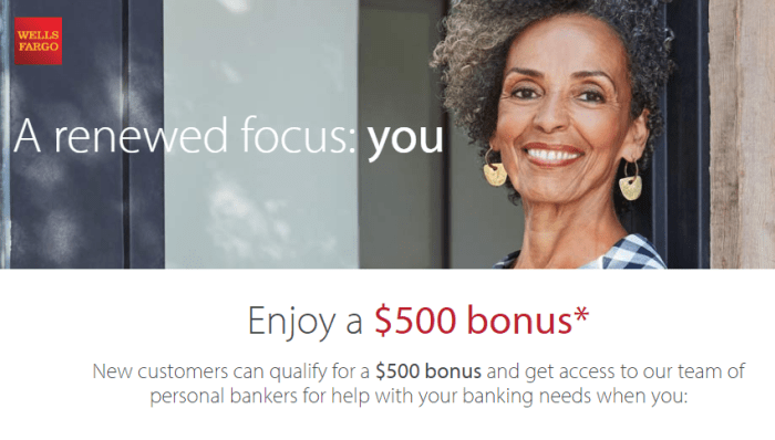 Wells Fargo $500 Bonus