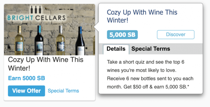 Swagbucks wine offer