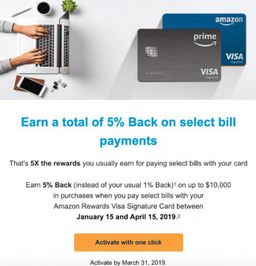 Chase Amazon Card utilities cashback